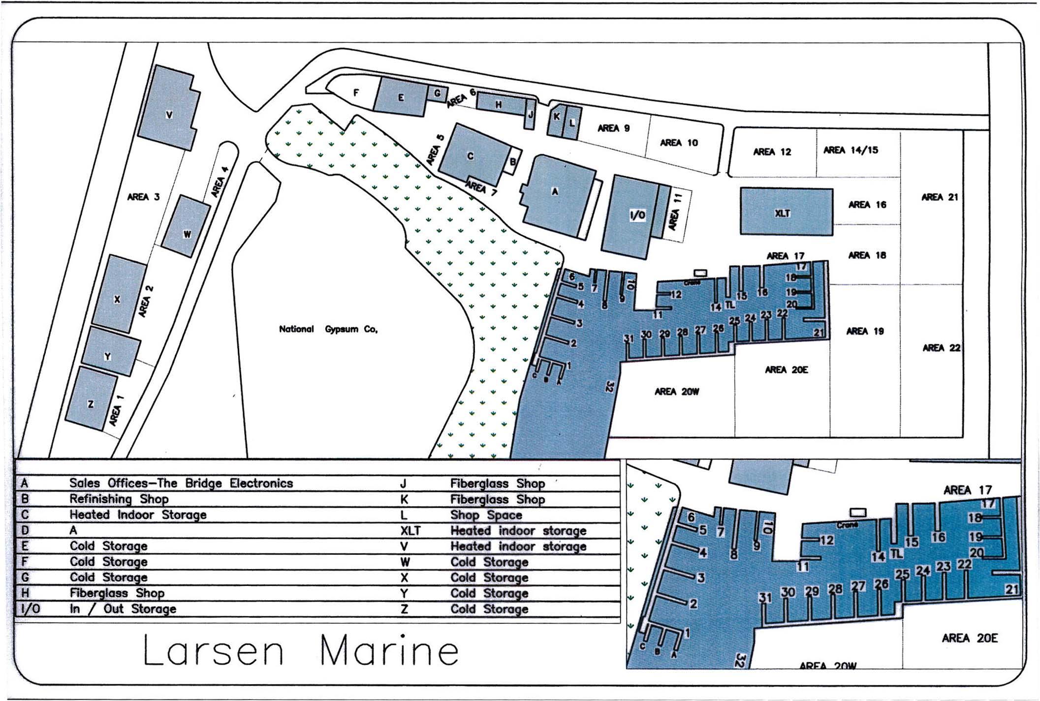Larsen Marine Yard Map 9 2019